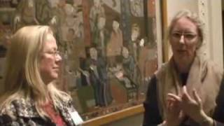 Polly Leonard, editor-in-chief of Selvedge Magazine, filmed at Textile Collections in Victoria and Albert Museum, London