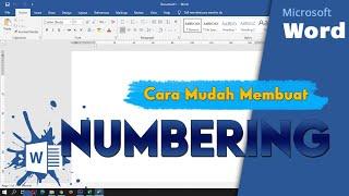 Cara Mudah Membuat Numbering 1.1, 1.2, 1.3 dan seterusnya di Ms  Word