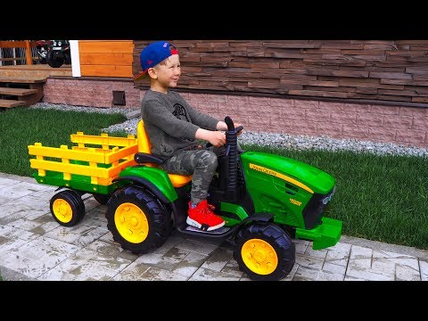 Unboxing mini TRAKTORS - Excavators! Senya Ride on Power Wheel Tractors / Tractors Broken DOWN