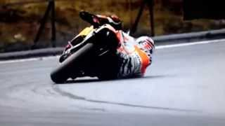 Incredible turn 68 degrees for Marc Marquez