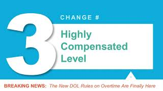 DOL'S new Overtime Rules will Take Effect January 1, 2020