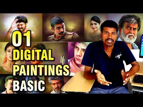 #01 - Digital painting basic  Valavan Tutorials