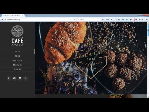 Create a Website - Restaurant and Cafe - 2018 WordPress Avada Theme