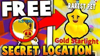 NEW *SECRET* LOCATION GIVES THE RAREST PET FOR FREE!! - Roblox Ice Cream Simulator (Update)