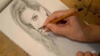 Лана Дель Рэй, Lana Del Rey portrait Портрет Ланы под приятную музыку:)
