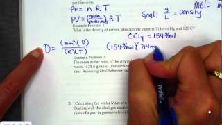 Ideal Gas Law PV=nRT Practice Problems