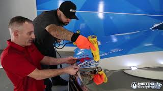 How to install 3M 1080 wrap series silver chrome wrapping vinyl film