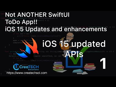 My To Dos SwiftUI app iOS15 update 1 -  iOS 15 APIs, FocusState, Keyboard Toolbar and Alerts thumbnail