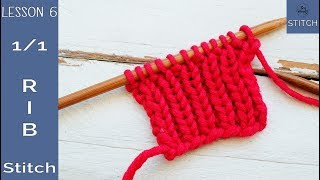 Learn to knit quickly - Lesson 6: 1x1 Rib Stitch - So Woolly