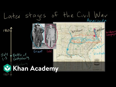 Later stages of the Civil War - 1863 (video) | Khan Academy