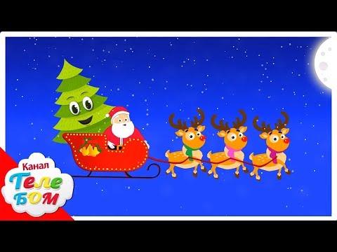 Детские песни слушать. В лесу родилась ёлочка. Новогодние песни для детей про новый год. Телебом