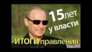 Подведение итогов Путинского правления.