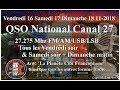 Samedi 17 Novembre 2018 21H00 QSO National du canal 27