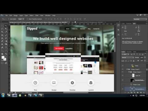 How To Create a Website Layout With Photoshop From Wireframe [Part 2]