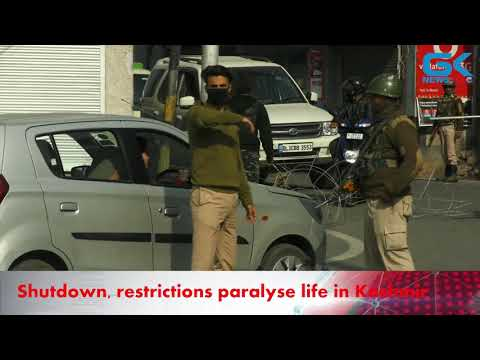 Shutdown, restrictions paralyse life in Kashmir