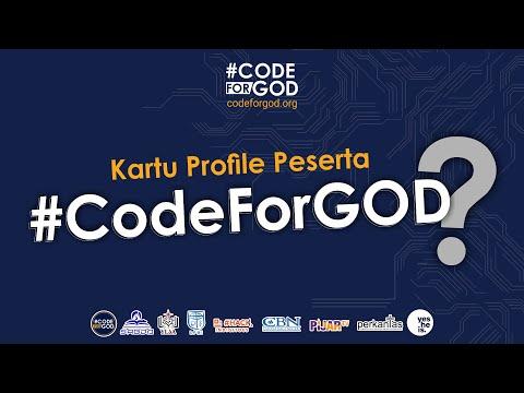 Kartu Profil, Kartu Proyek, dan Kartu mentor #CodeForGOD