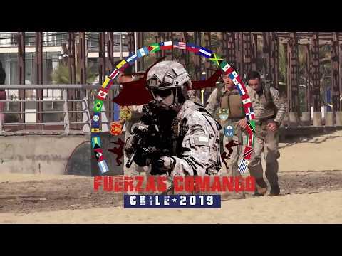 4ª Jornada Competencia Fuerzas Comandos Chile 2019 - prueba anfibia