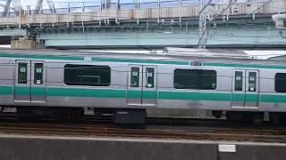有楽町線E233系7000番台りんかい線と並走
