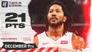 Derrick Rose 21 Points + GAME-WINNER Full Highlights    Pistons vs Pelicans   December 9, 2019