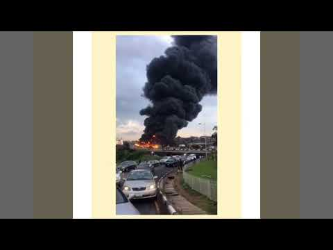 30 cars burnt and many lives lost at the otedola bridge accident