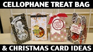 Stamping Jill - Cellophane Treat Bag & Christmas Card Ideas