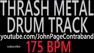 Thrash Metal Drum Backing Track 175 bpm FREE