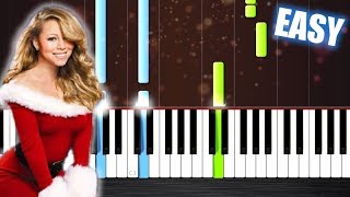 Mariah Carey - All I Want For Christmas Is You - EASY Piano Tutorial by PlutaX