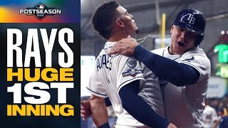 Rays COME OUT HOT vs. Justin Verlander, Astros with huge 1st inning in ALDS Game 4