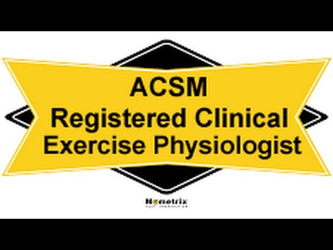 Free ACSM Registered Clinical Exercise Physiologist Study Guide ...