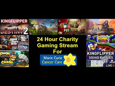 24 Hour Gaming Livestream For Marie Curie Cancer Live