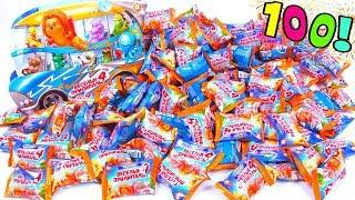 100 сюрпризов Веселые прилипалы 4 Дикси!! Распаковка коллекции Stickies Unboxing Surprise Toy