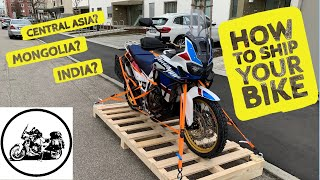 How to ship your motorcycle internationally - Case study: Germany to Kazakhstan