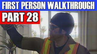 GTA 5 First Person Gameplay Walkthrough Part 28 - BORNING JOB! | GTA 5 First Person