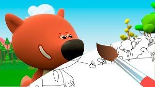 Раскраска - Ми-ми-мишки - Глобальное потепление - выпуск 11 - Учим цвета - мультики малышам