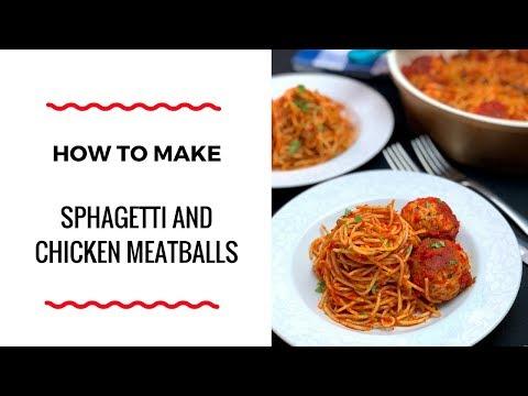 HOW TO MAKE SPAGHETTI AND CHICKEN MEATBALLS – PASTA RECIPE – ZEELICIOUS FOODS