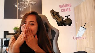 Unboxing Intimate Wm heart gaming chair | Assembly | Review✨