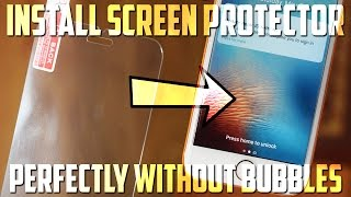 How To Perfectly Install ANY Screen Protector Without Bubbles! 2019
