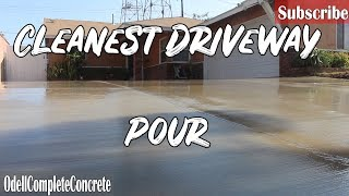 How To Pour A Concrete Driveway Complete Tear Out! Clean Finish!