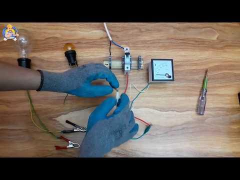 مقارنة بين جهاز الفولتميتر الميكانيكي ولمبة الفحص فى اختبار التوصيلات الكهربائية