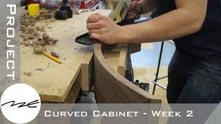 Laminating Walnut Veneer - The Curved Cabinet - Week 2