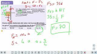 Eğitim Vadisi 11.Sınıf Fizik 4.Föy Newton Hareket Kanunları 2 Konu Anlatım Videoları