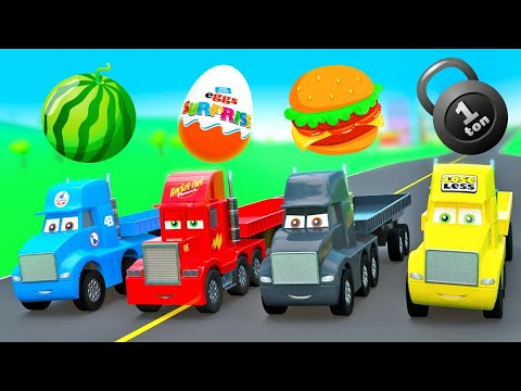 Download Amazing Stories with Little Cars Mcqueen, Mack Truck, Dinoco King, Cars Toys Compilation Mp4 HD Video and MP3