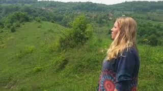 Dymphi Peeters sings at the Tumulus in Visoko Bosnia