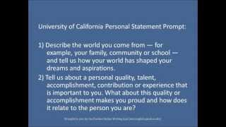 Purdue OWL: Personal Statements