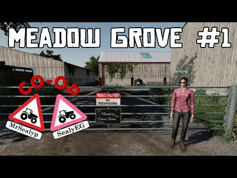 MEADOW GROVE, #1, CO-OP Let's Play, with SealyEG, Farming Simulator 19, PS4.