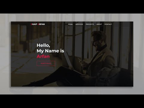 One Page Full Website Project For Practice   HTML & CSS Responsive Website   Web Cifar 2021