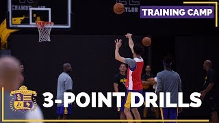 Lakers Training Camp (Practice Footage): 3-Point Shooting Drills