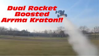 Arrma Kraton V5 Boosted Rocket Jump And RC Planes, FPV Drones, and RC Car Meet UP