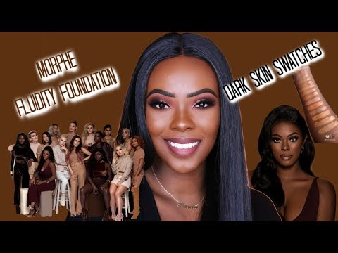 Morphe Fluidity Foundation | 60 Shades, Swatches for Dark Shades