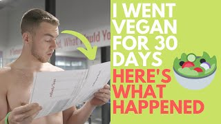 I went VEGAN for 30 DAYS. Here's What HAPPENED. 😱
